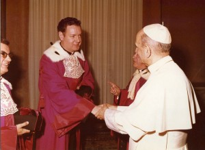 A judge of the Roman Rota, with Pope Paul VI, c. 1972