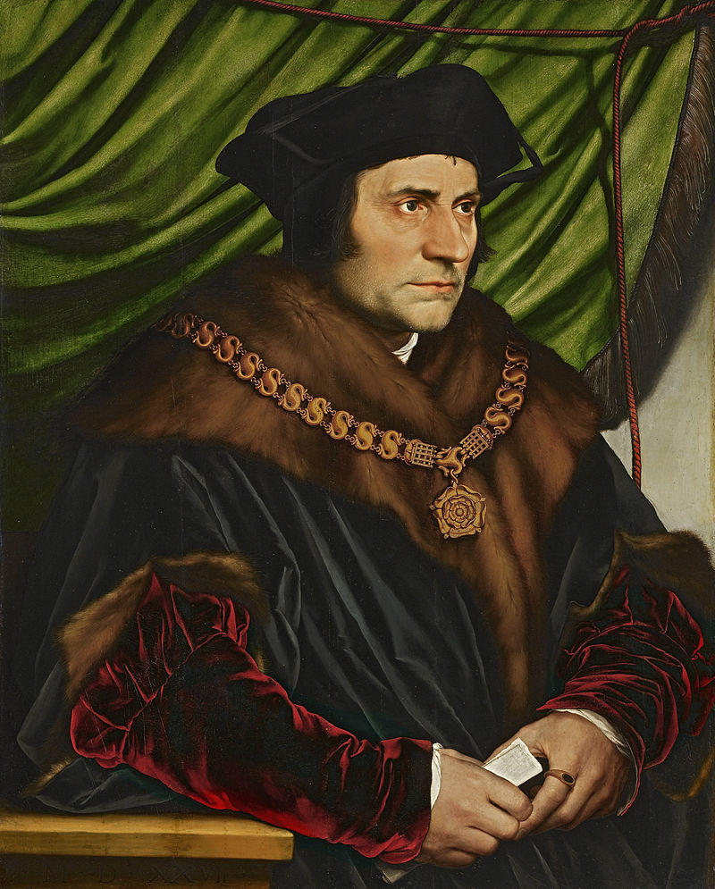 Sir Thomas More by Hans Holbein, the Younger, 1527 [The Frick Collection, NY]